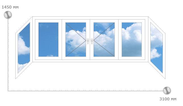 Остекление лоджий 3м пластиковыми окнами цены..