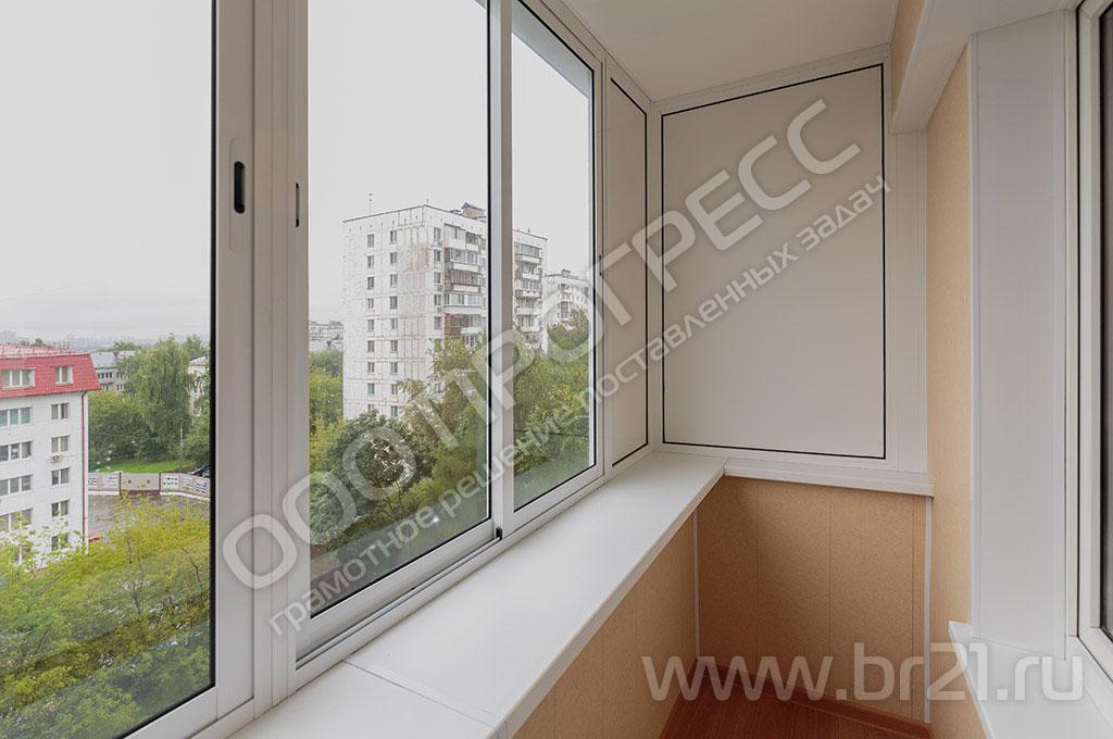 Алюминиевое остекление балконов раздвижными окнами provedal.