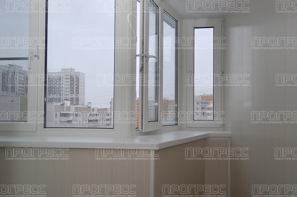 Остекление балкона дома п44т..
