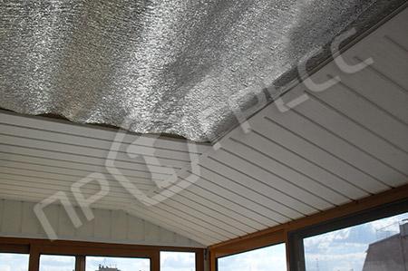 Утепление крыши балкона пенофолом